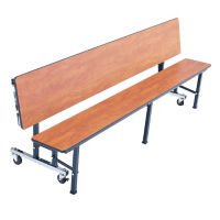 Compact Convertible Table Bench with Chrome Legs - 8'W, T11548