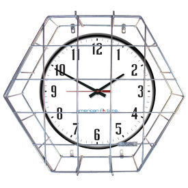 "Wall Clock with Battery Booster - 18"", V20146"
