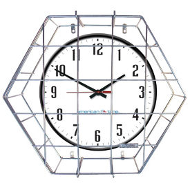"Wall Clock with Battery Booster - 24"", V20147"