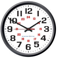 "Automatic Adjustment Wall Clock with Battery Booster - 12"", V22065"