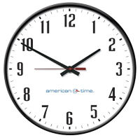"Silent Analog Clock with Battery Booster - 12"", V22070"