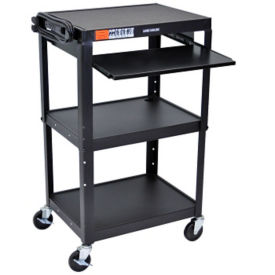 Adjustable Height AV Cart with Pullout Tray, M10021