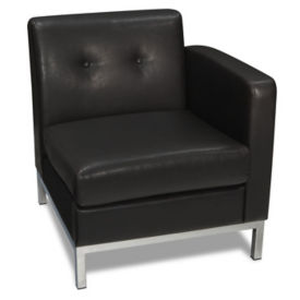 Faux Leather Right Single Arm Chair, W60516