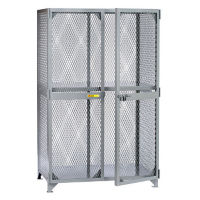 "Metal Mesh One Shelf Storage Locker - 60""W x 24""D x 72""H, B30281"