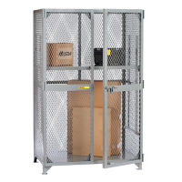 "Metal Mesh One Adjustable Shelf Storage Locker - 60""W x 30""D x 72""H, B30290"