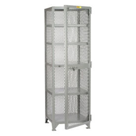 "Compact Metal Mesh Storage Locker - 25""W x 27""D x 72""H, B30302"