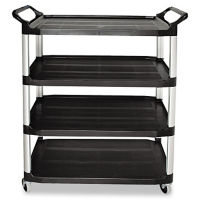 "4 Shelf Utility Cart 41""W, B34436"