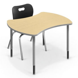 "Small Curved Desk - 32.7""D x 41.7""W, A11240"
