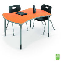"""Large Curved Desk - 35.7""""D x 47.4""""W, A11241"""