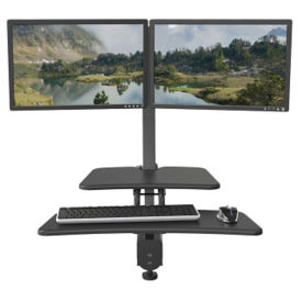 Dual Monitor Adjustable Height Station, E10244