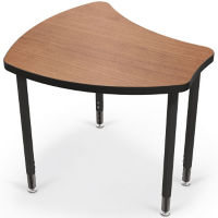 "Modular Adjustable Height School Desk - 28"" D, J10067"