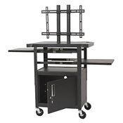 Adjustable Height Flat Panel TV Cart, M13044