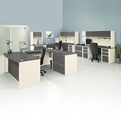 Three Person Work Station Executive Set, D35646