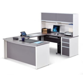Executive U-Desk with Adjustable Height Bridge, D37517
