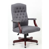 Fabric Button-Tufted Executive Chair, C80018