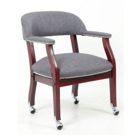 Fabric Captain's Chair with Casters, C80020
