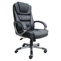 High Back Executive Chair with Knee Tilt in Bonded Leather, C80459
