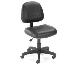 Bonded Leather Armless Task Chair, C80161