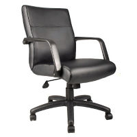 Bonded Leather Mid-Back Conference Chair, C80192