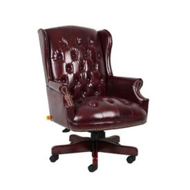 Queen Anne Vinyl Executive Chair, C80458