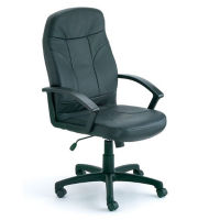 High-Back Bonded Leather Executive Chair, C80488