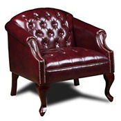 Traditional Vinyl Club Chair, C80418