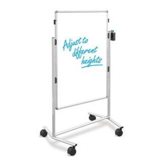 """Two Sided Adjustable Height Mobile Markerboard - 52"""" - 69"""", B23258"""
