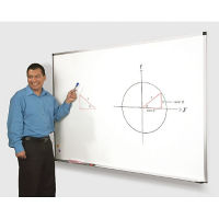 Magne-Rite White Board with Aluminum Frame 8'wx4'h, B20867