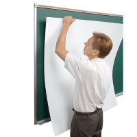 Magnetic Porcelain Peel and Stick Markerboard Surface - 6ft x 4ft, B23406