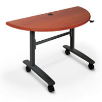 "48""W x 24""D Half Round Flipper Table, T12026"