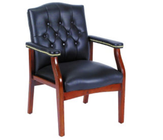 Traditional Tufted Guest Chair, C60195