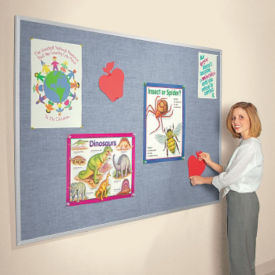 Vinyl Bulletin Board with Aluminum Frame 6'Wx4'H, B20957