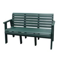 "Outdoor Buddy Bench - 60""W, F10423"