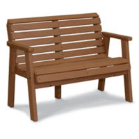 "Recycled Plastic Garden Bench with Arms - 48""W, F10785"