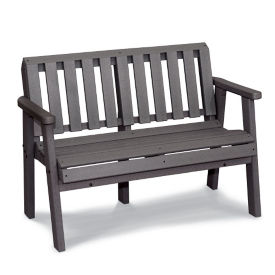 "Recycled Plastic Park Bench with Arms - 48""W, F10782"