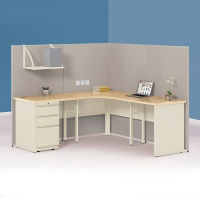 "Corner Cubicle Workstation - 72""W x 72""D, F41203"