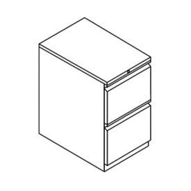 "Stationary Two File Drawer Pedestal - 15""W, L40835"