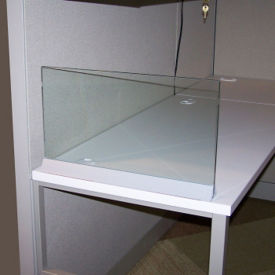 "Desktop Glass Return Screen for 30"" x 13"" Space, V22012"