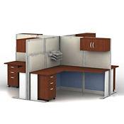 Four L-Workstations Set, D35159