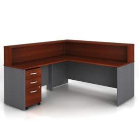 Reversible L Desk-Assem Peds, W60494