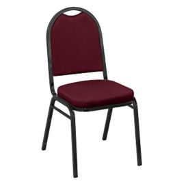 "Round-Back Stack Chair with 2"" Vinyl Seat, C67778"
