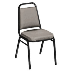 "Square-Back Stack Chair with 2"" Vinyl Seat, C67784"