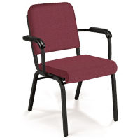 Standard Fabric Stack Chair with Arms, C67796