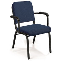 Premium Upholstered Stack Chair with Arms., C67797