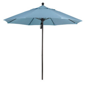 Sunbrella 9'W Pulley Lift Umbrella with Aluminum Pole, F10315