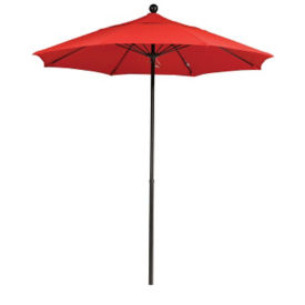 Sunbrella 7.5'W Push Lift Umbrella with Fiberglass Pole, F10317