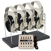Stereo Listening Center for 8 with Headphone Rack, M10245