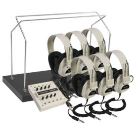 Mono Listening Center for 6 with Headphone Rack, M10250