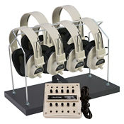 Stereo Listening Center for 6 with Headphone Rack, M10252