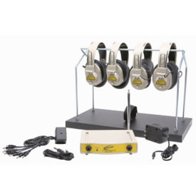 Wireless Listening Center with Headphone Rack, 72.100 MHz 4 Person, M16185